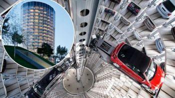 FOTO Cel mai IMPRESIONANT GARAJ din lume! Doua cladiri imense de 60 de metri in care incap 800 de masini! Vezi cui ii apartine