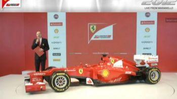 SUPER FOTO: Ferrari si-a lansat super masina F1 pentru 2012: