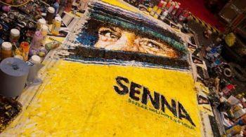 FOTO Senna ramane IDOL in F1! Cel mai TARE tablou facut de un fan fara ajutorul pensulelor! Cum l-a pictat