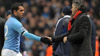 Mancini e disperat sa ia titlul! Anuntul care a SOCAT Anglia: e dispus sa-l reprimeasca pe Tevez la City! Ce i-a transmis