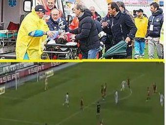 VIDEO / IMAGINI CUTREMURATOARE: Un coleg de-al lui Torje a facut infarct pe teren. Meciul a fost suspendat! Jucatorul a murit la spital!