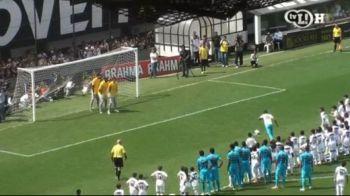 SUPER VIDEO! Neymar vs 100 de pusti! Pele a aterizat cu elicopterul pe stadion la aniversarea lui Santos! Neymar e liber acum sa plece la Barca