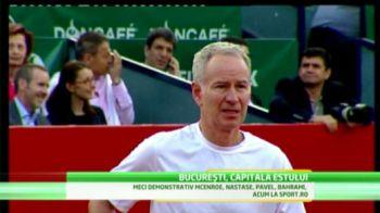 Spectacol TOTAL la Bucuresti! McEnroe si Nastase au tinut 5000 de oamnei in picioare la un meci FABULOS! VIDEO