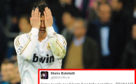 NU AI CUM sa nu razi cu nebunul de Balotelli! Ce mesaj GENIAL si-a pus pe Twitter imediat dupa meciul de aseara, in ciuda lui Ronaldo! :))