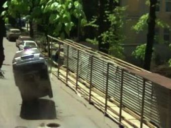 "VIDEO: Alarma de gradul ""0""! O masina a fost aruncata in aer chiar langa satul olimpic!"