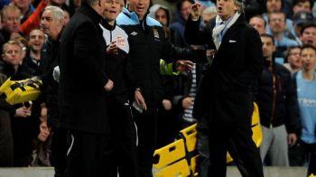 """SCANDAL la City - United! Alex Ferguson a sarit la gatul lui Mancini: """"Ce faci, ma? Tu arbitrezi meciul? De ce erau aproape sa se ia la bataie:"""