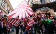 Primele INCIDENTE in Centrul Vechi! 40 de fani ai lui Atletico au sarit la bataie cu fanii lui Bilbao! Ce s-a intamplat: