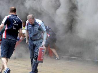 POZA ZILEI! Explozie in garajul celor de la Williams la finalul cursei de la Barcelona! Vezi ce a mai ramas dintr-o super masina de 2 mil. de dolari