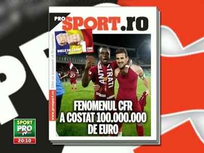 Duminica in Pro Sport: proiectul de 100 de milioane care i-a adus 3 titluri lui CFR! Paszkany e SEICUL din Liga I