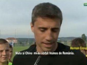 VIDEO: Hernan CRESPO, in Romania! A fost primit cu mici si pastrama de echipa pentru care va juca! Ce oferta asteapta din Liga I:
