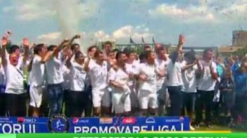 "VIDEO! Petrecere la Constanta, Viitorul a promovat in Liga 1! Dica: ""E ca si cum am luat titlul cu Steaua!"" Promisiunea care baga in sperieti GRANZII din Romania:"
