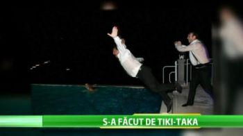 VIDEO Fostul presedinte al Barcei s-a facut de TIKI TAKA! S-a imbatat la o nunta si s-a aruncat imbracat in piscina! De mai multe ori :)