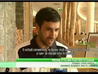 """RAUL MADRID, suporter de LUX pentru stelisti: """"Sper ca anul viitor sa luati titlul!"""" Mesajul emotionant pentru Raul al Stelei:"""