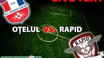Rapid a salvat un punct la Galati cu un gol NOROCOS! Otelul 1 - 1 Rapid si Nicolae Grigore e iar decisiv! Huiduieli pentru Sabau!