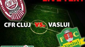 CE FE NER! Dezastru pentru Vaslui inainte de meciul DECISIV din Liga: CFR Cluj 3-0 Vaslui! Dubla Bastos, gol din penalty Cadu!
