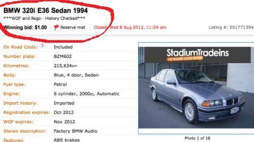 I-a pus Dumnezeu mana in cap! Cat noroc si bafta sa ai ca sa cumperipe netun BMW 320i cu 1$?!