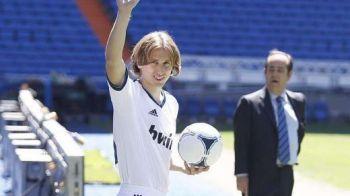 """VIDEO Primele imagini cu Modric pe Bernabeu: """"Sunt gata sa joc cu Barca!"""" Ce promisiune le face fanilor:"""