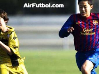 VIDEO Barca si-a luat un DRAGON! Pustiul din Coreea care a uimit La Masia! Vezi aici cum il imita pe Messi!