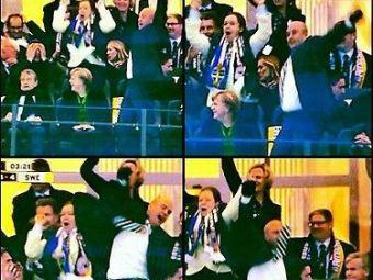 VIDEO Ibrahimovic, EROU national dupa revenirea cu Germania! Angela Merkel a ramas MASCA in tribune! Prim-ministrul Suediei a sarit ca un nebun langa ea!