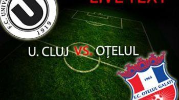 Branet, reflex senzational in prelungiri: U Cluj 1-1 Otelul! Otelul ramane la retrogradare!