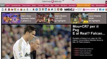 Gazzetta dello Sport: Fotbalul nu va mai fi niciodata la fel! Oferta FARAONICA a celor de la PSG pentru Mourinho si Cristiano Ronaldo! Falcao ajunge la Real!