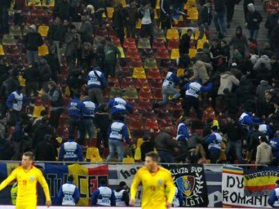 Scandal in Peluza Nord de pe National Arena! Oamenii de ordine au intervenit in forta in 500 de suporteri! 3 fani au fost retinuti! De la ce a plecat totul: