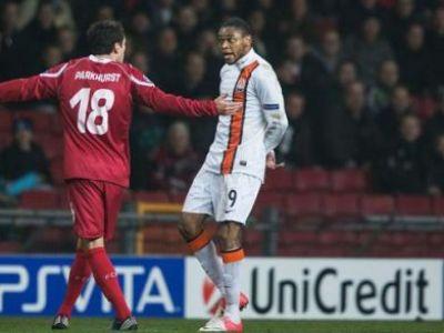 Lucescu se ENERVEAZA din nou! UEFA l-a suspendat pe Luiz Adriano pentru gestul MIZERABIL din Liga! Cum a fost sanctionat: