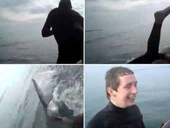 VIDEO Cea mai PROASTA gluma din istorie! Si-au aruncat prietenul in apa in fata unui RECHIN! Ce a urmat: