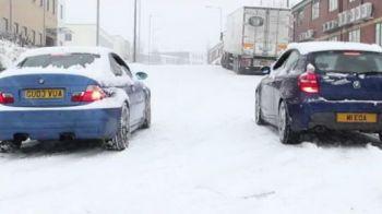 VIDEO Cat conteaza cauciucurile de iarna? Super demonstratie de la BMW! Ce patesc masinile nepregatite!