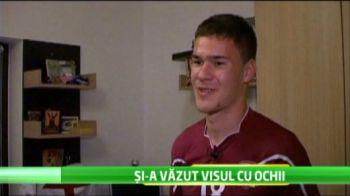 Rapidul nu va muri niciodata, daca are numai fani ca el! Tine cu echipa de la 4 ani, acum vrea sa o distruga din teren pe rivala Dinamo!