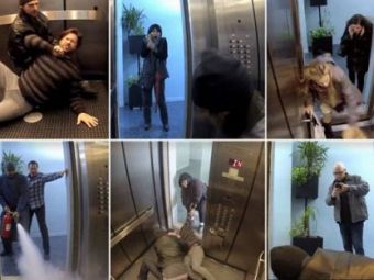 O noua FARSA INCREDIBILA in lift! Cum ai reactiona la asa ceva?! Zeci de oameni sunt INGROZITI dupa imaginile astea!