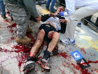 Imagini din IADUL de la Boston! Clipa care ne-a amintit de 11 septembrie 2001! Atentie: imagini SOCANTE: