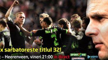 Super Olanda, batalia FINALA! ACUM Ajax 1-1 Heereenven se joaca la titlu! Meciul care poate decide campioana!
