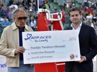 ATP face donatii la BRD Open Romania! Tiriac a primit AZI CEC-ul de 10.000 de euro