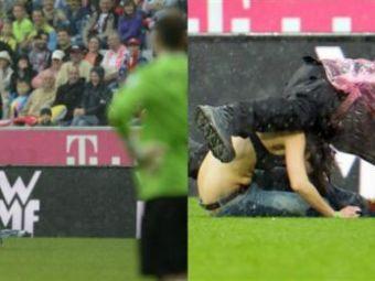 NEBUNIE la Munchen! O fata nu a mai avut rabdare si a intrat sa-i felicite pe jucatorii lui Bayern! Era dezbracata!