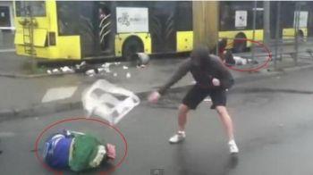 Scene de o violenta EXTREMA la un meci din Cecenia! Ultrasii rivali au fost prinsi in oras de cei de la Terek! A iesit HORROR! VIDEO