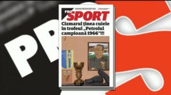Citeste vineri in ProSport: trofeul de campioana a Romaniei este cel mai bun loc in care cizmarii isi pot tine... cuiele!