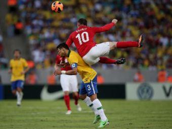 Spectacol nebun si goluri fenomenale in primul meci jucat pe noul Maracana: Brazilia 2-2 Anglia! Rooney a dat golul serii! VIDEO