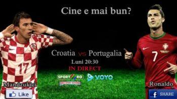 Croatia 0-1 Portugalia! Duelul GALACTICILOR Ronaldo si Modric a fost castigat de portughez! CR7 a dat singurul gol al meciului: VIDEO