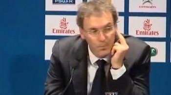 VIDEO Seicii au fost socati de noul antrenor! Gest OBSCEN al lui Blanc la prezentarea la PSG! Ce a facut dupa ce a fost numit SOMER: