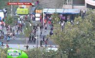 Batai intre suporteri si jandarmi la portile stadionului inainte de meci! 4 suporteri stelisti au fost dusi la sectie! VIDEO