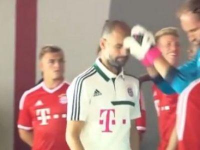 VIDEO! Pep, la un pas sa fie facut KO! Un jucator de la Bayern i-a dat un pumn in gura lui Guardiola! Crezi ca va mai juca vreun meci? :)