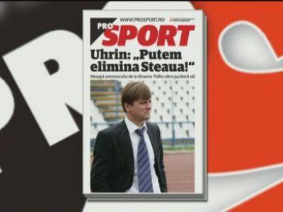 """Citeste miercuri in Prosport: Interviu cu Dusan Uhrin Jr: """"Putem sa o eliminam pe Steaua!"""""""