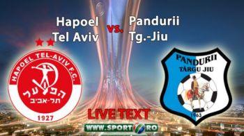 REZUMAT Pandurii e in playoff dupa victoria fantastica din Israel: 2-1 cu Hapoel! Eric si Ciucur au intors scorul pentru un rezultat istoric!