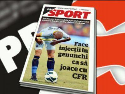Marti in PRO Sport: Bourceanu s-a LOVIT si e incert pentru derby-ul cu CFR