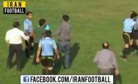 Un antrenor furios l-a luat la pumni pe arbitrul meciului! Centralul a fost mai rapid de pumn :)) VIDEO