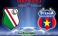 CALIFICARE! Steaua, a 7-a oara in grupele Ligii Campionilor! Stanciu si Piovaccari au marcat intr-un inceput PERFECT de meci! Legia 2-2 Steaua! Toate fazele meciului: