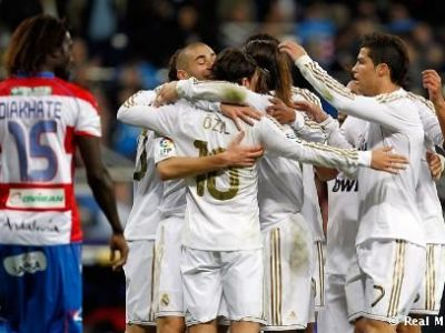 """Granada 0-1 Real! Ancelotti trebuie sa """"unga"""" mai bine mecanismele! Jocul Realului scartaie, arbitrul i-a iertat de penalty in min 85! VIDEO Vezi golul lui Benzema"""