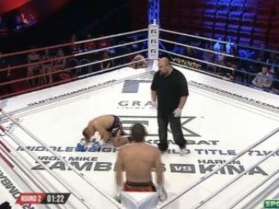 KO-ul serii! Ciprian Spetcu si-a pulverizat adversarul: VIDEO Mike Zambidis l-a invins in main event pe Harun Kina