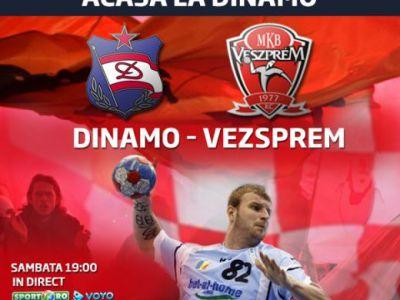 Dinamo e la un pas de istorie! Meci emotionant in memoria lui Marian Cozma! Dinamo - Vezsprem e LIVE sambata, de la 19.00 pe Sport.ro si Voyo.ro: